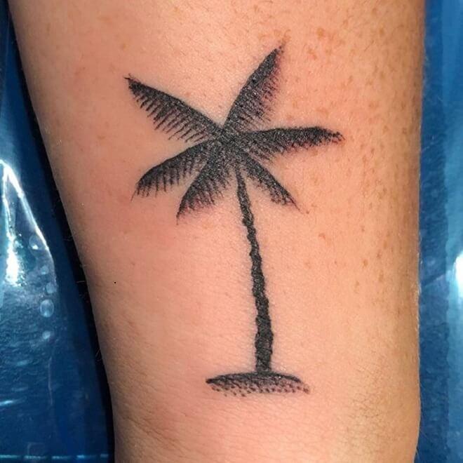 Palm Tree Tattoo Art