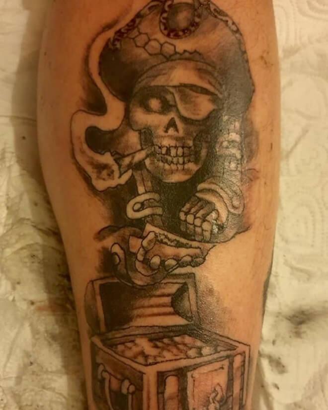 Pirate Skull Tattoo Style