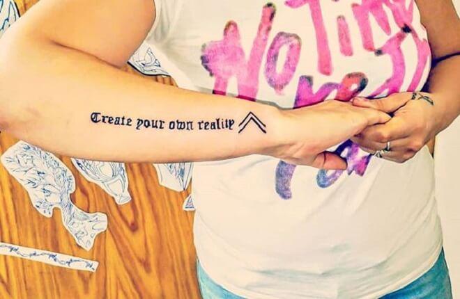 Quotes Arm Tattoos