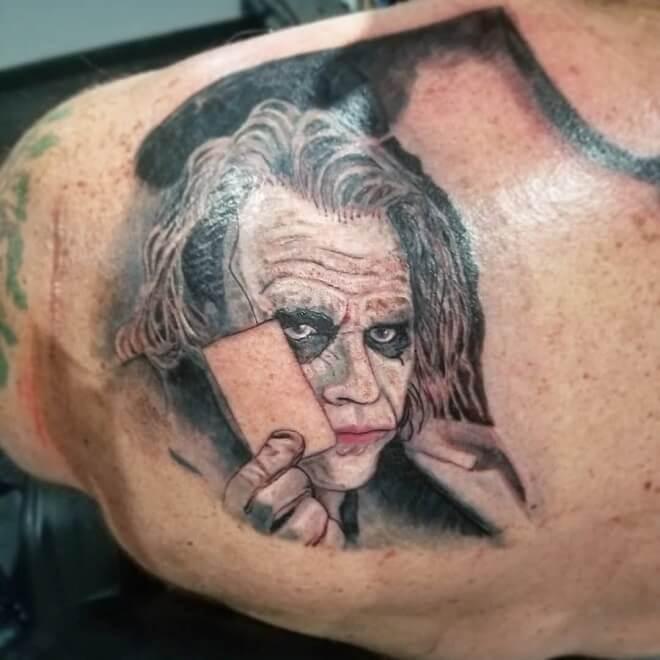 Realism Joker Tattoo