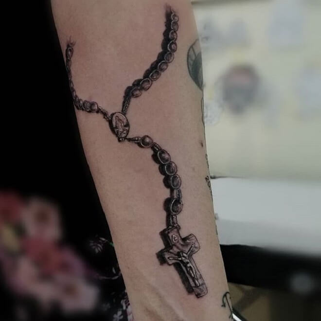 Rosary Tattoo Art