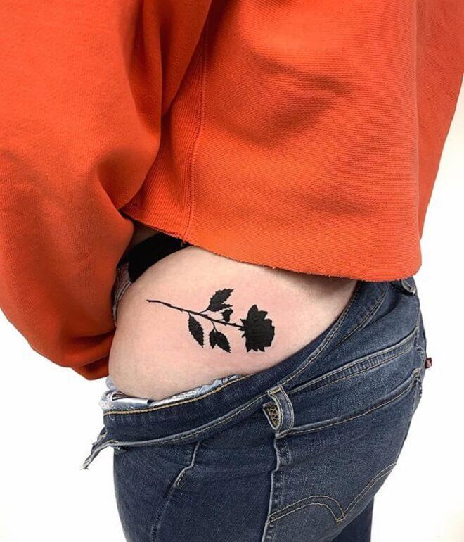 Rose Butt Tattoo