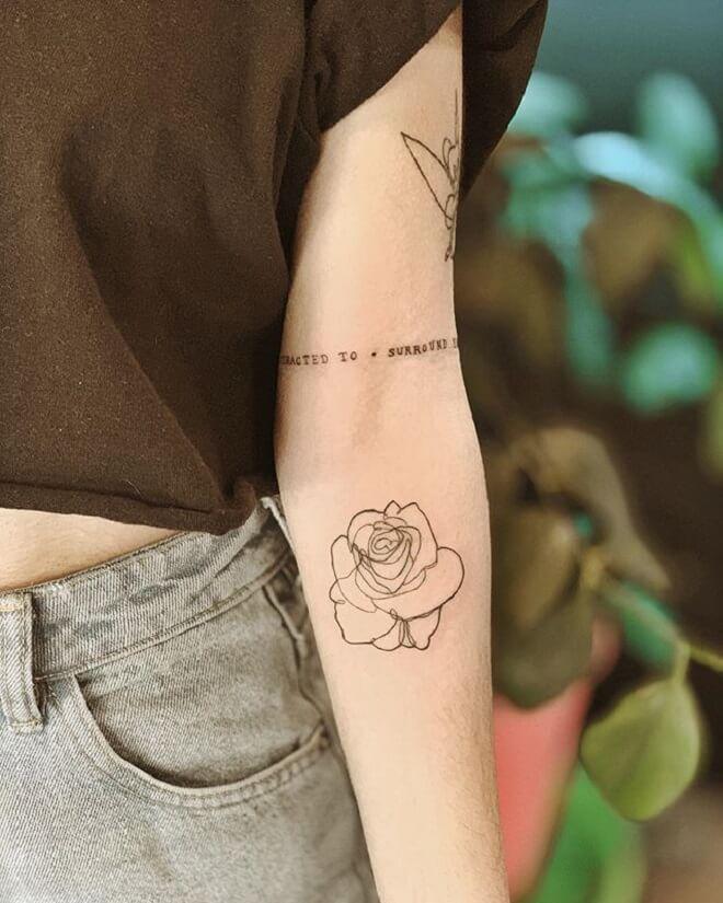 Rose Simple Arm Tattoos
