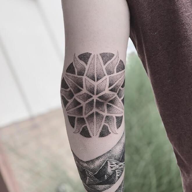Sacred Geometry Dot Work Tattoo