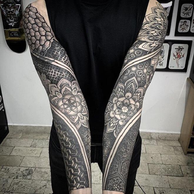 Sacred Geometry Tattoo Art