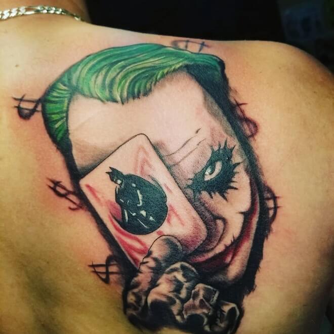 Shoulder Joker Tattoo