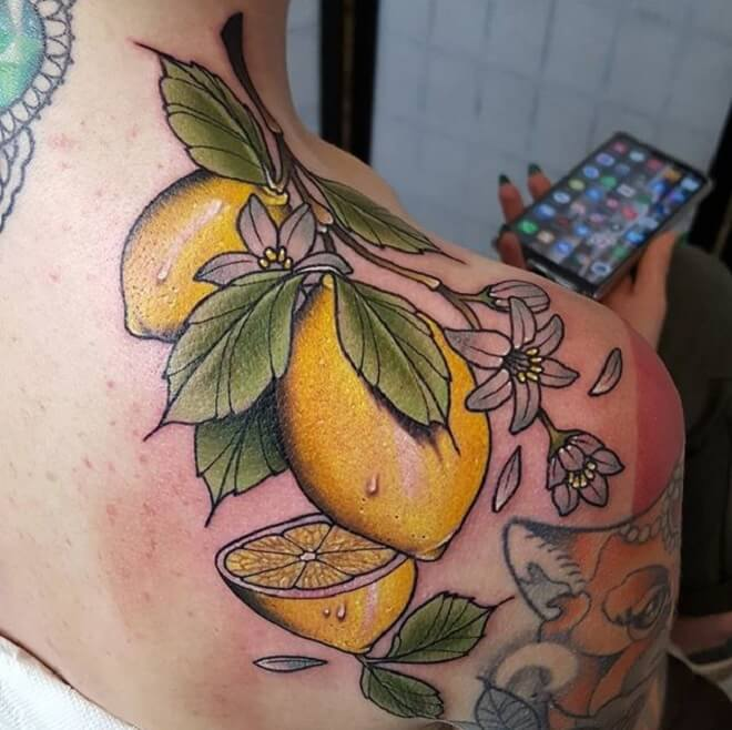 Shoulder Neo Traditional Tattoo