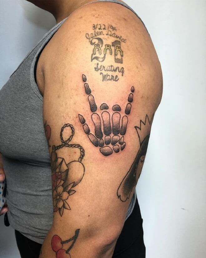 Skeleton Hand Tattoo for Women