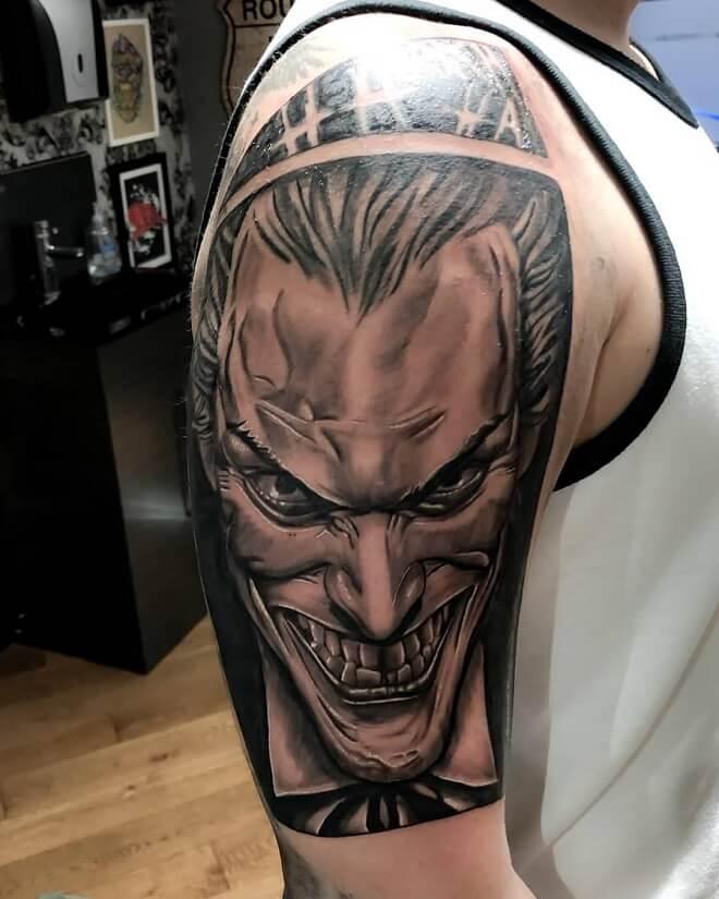 Sleeve Crazy Joker Tattoo