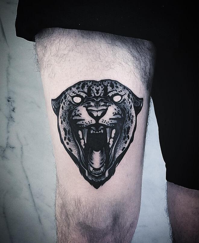 Small Tattoo on Leg