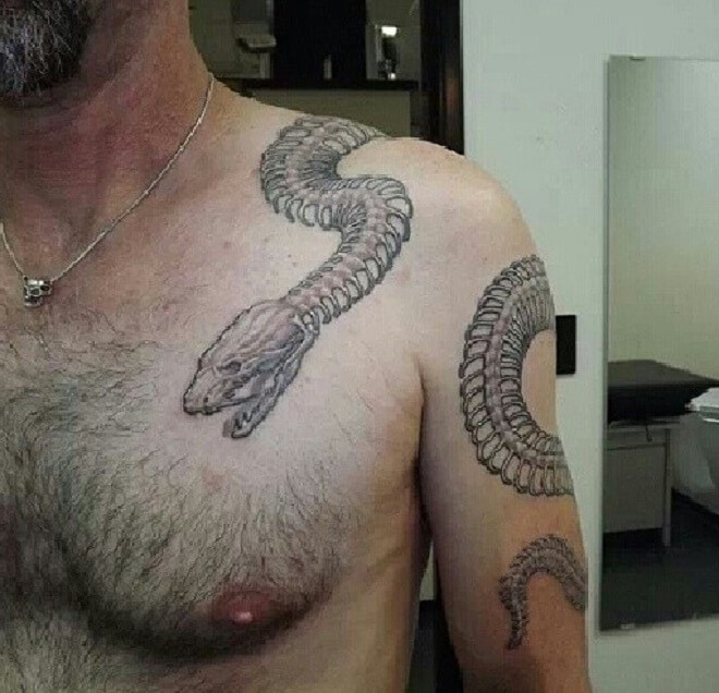 Snake Skeleton Tattoo Work