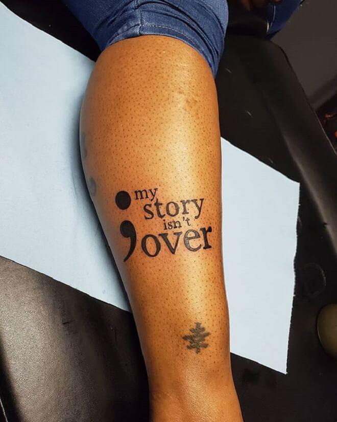 Symbol with Script Tattoo