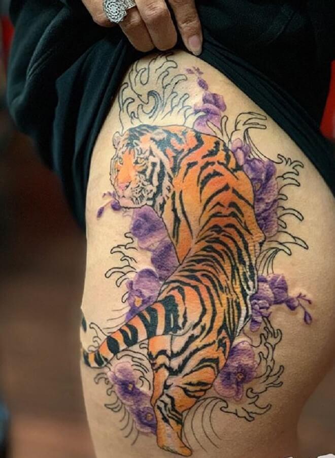Tiger Butt Tattoo