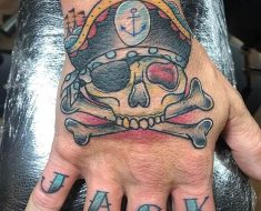 Top Pirate Skull Tattoo