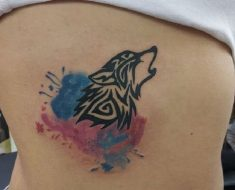 Top Tribal Wolf Tattoo