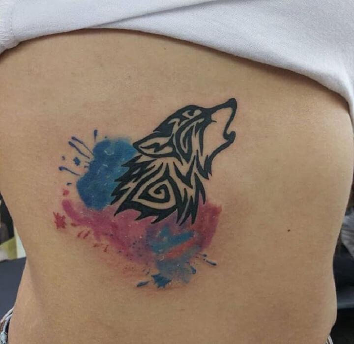 5a4893973 Top 30 Tribal Wolf Tattoos | Black Tribal Wolf Tattoo Designs & Ideas