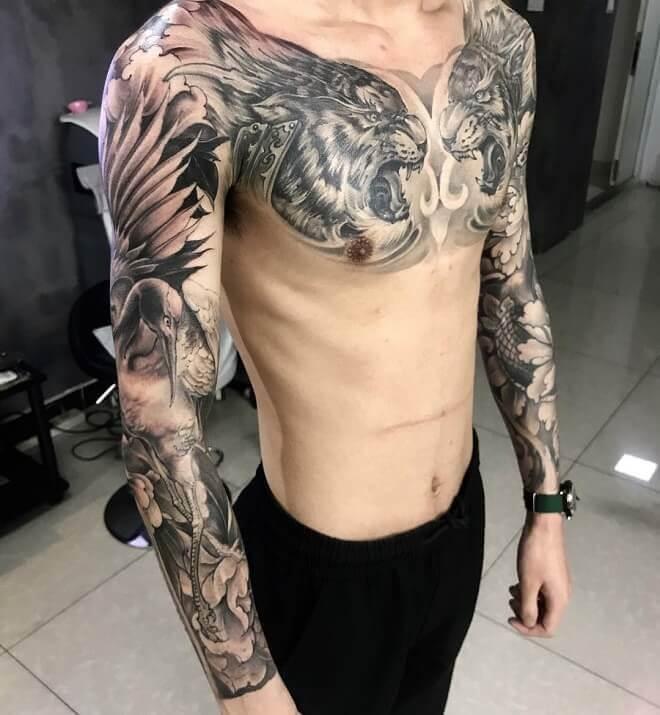Toronto Chest Tattoo