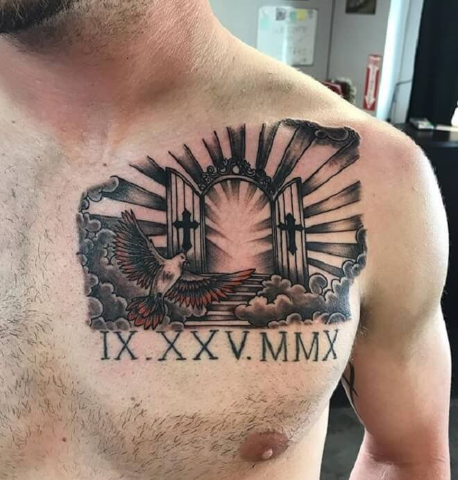 Traditional Chest Tattoo