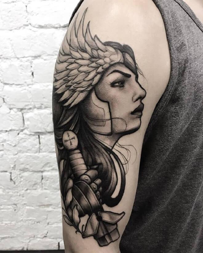 Valkyrie Black Tattoo