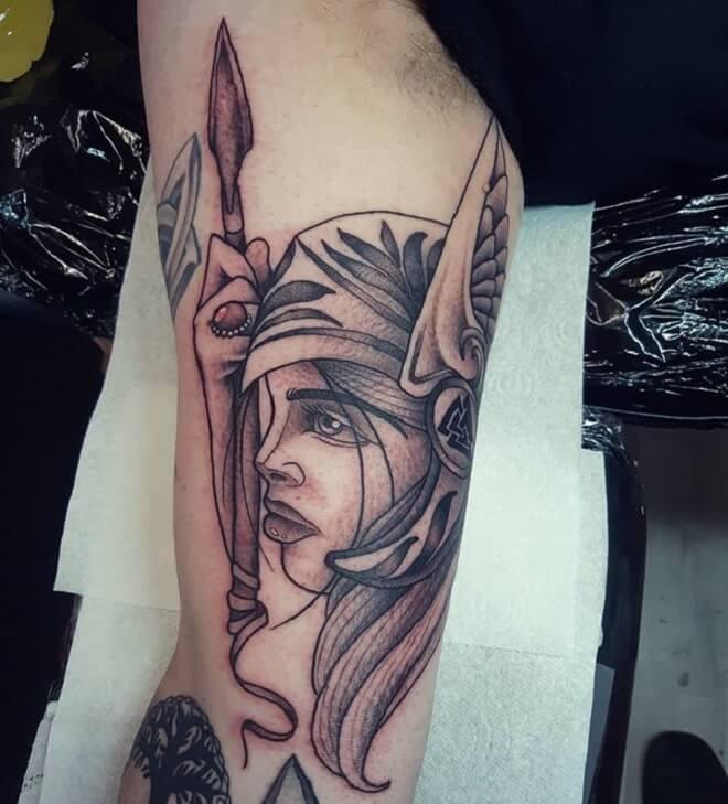 Valkyrie Body Tattoo