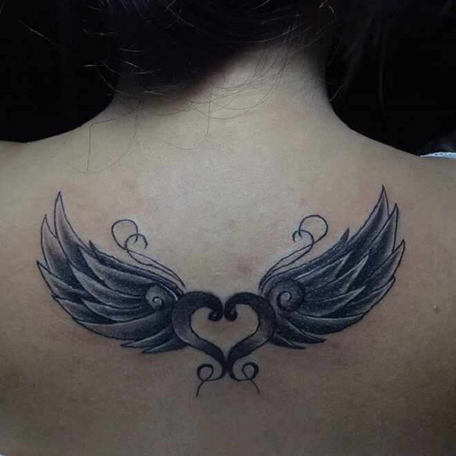 Wing Tattoo for Girl