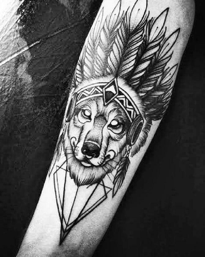 Wolf Cool Tattoo