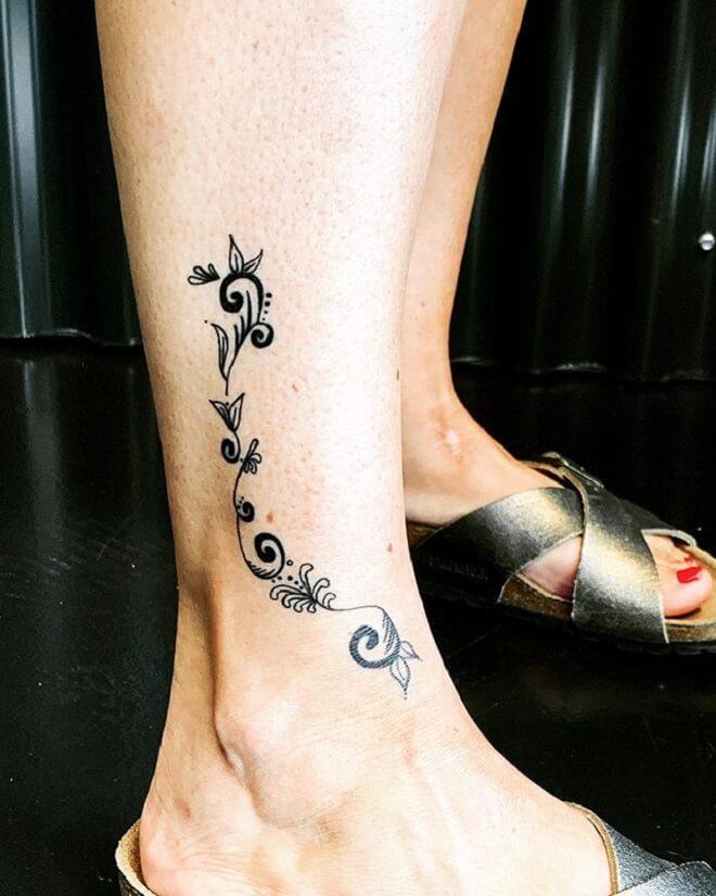 Women Leg Tattoo