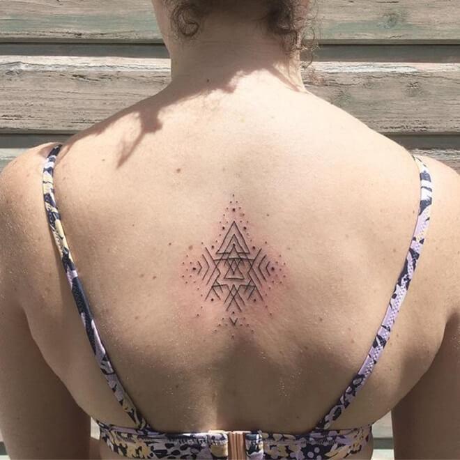 Women Sacred Geometry Tattoo