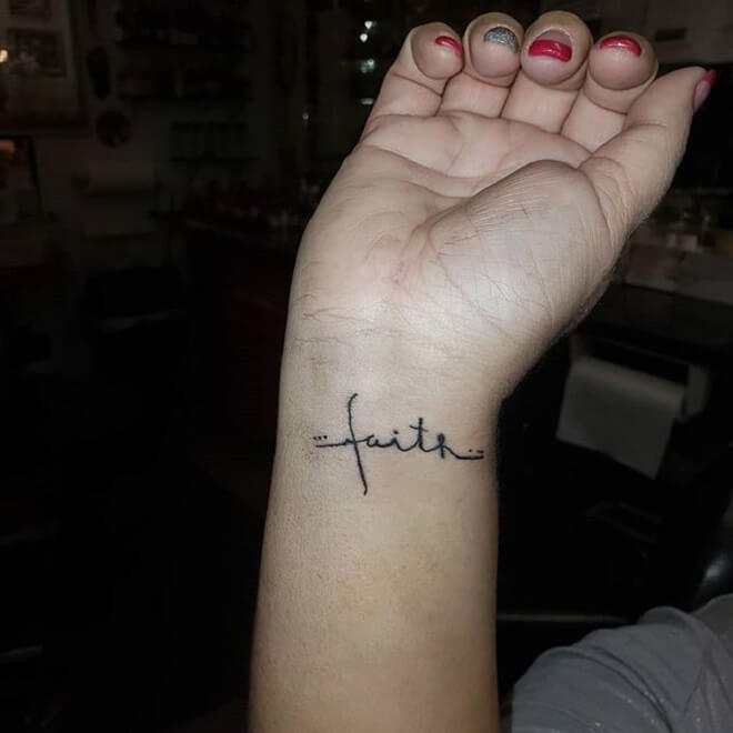 Wrist Faith Tattoo
